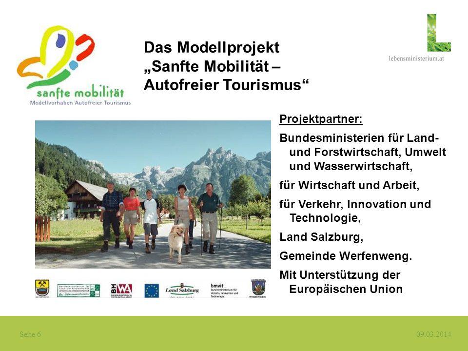 """""""Sanfte Mobilität – Autofreier Tourismus"""