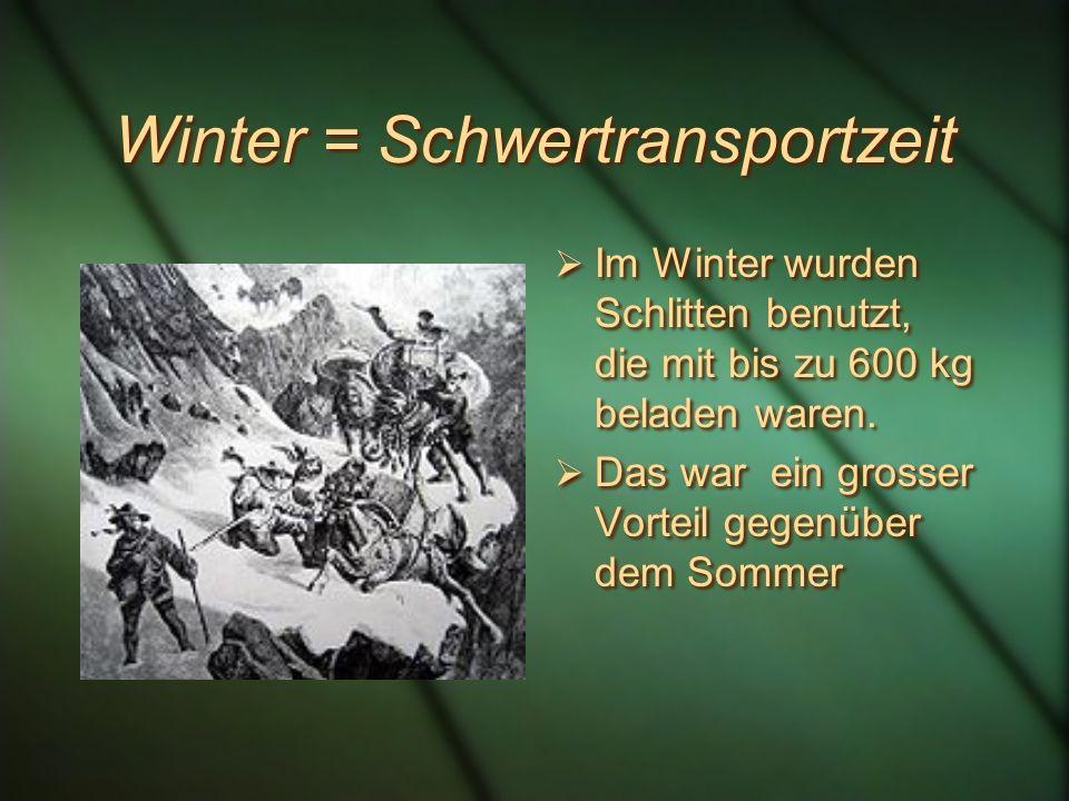 Winter = Schwertransportzeit