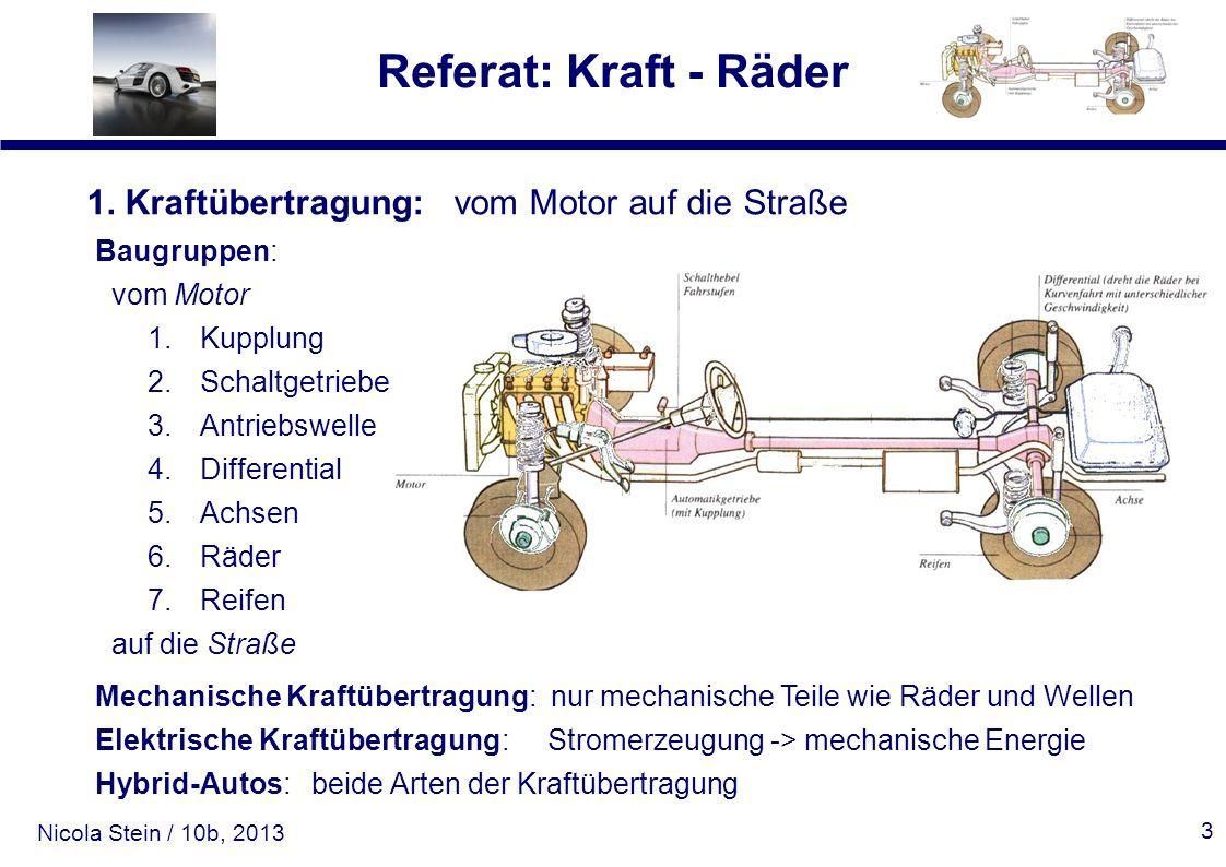 1. Kraftübertragung: vom Motor auf die Straße