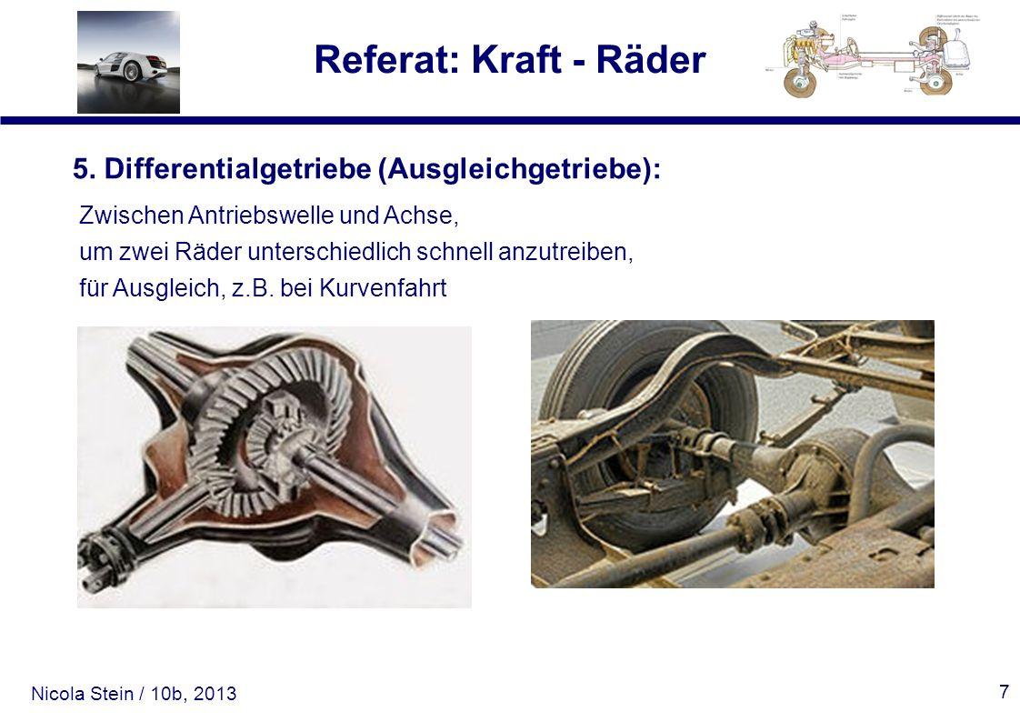 5. Differentialgetriebe (Ausgleichgetriebe):