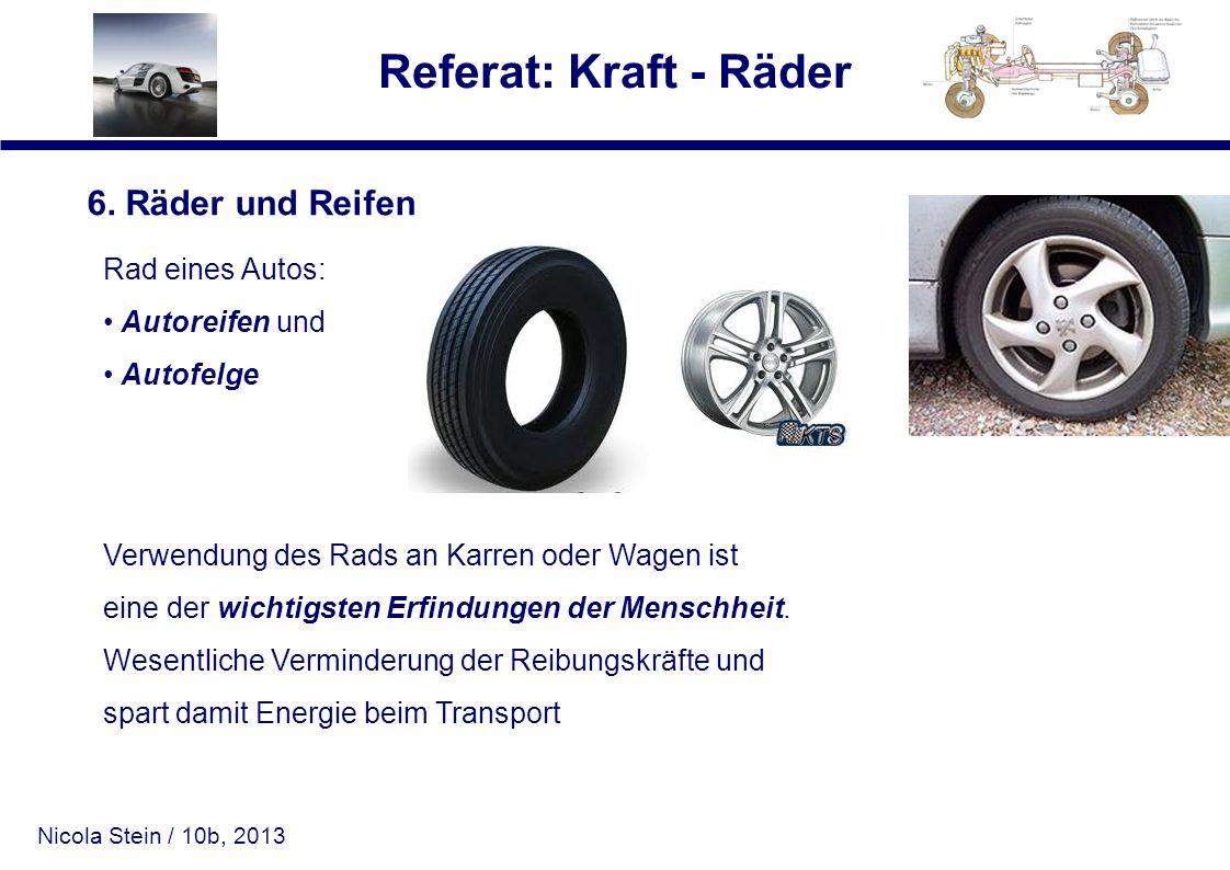 6. Räder und Reifen Rad eines Autos: Autoreifen und Autofelge