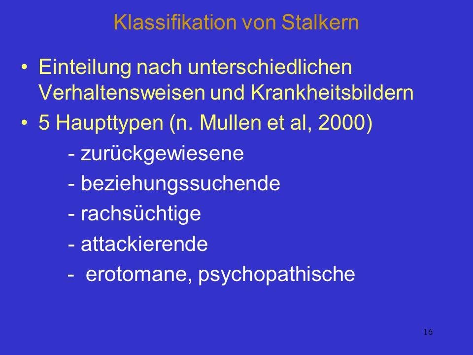 Klassifikation von Stalkern