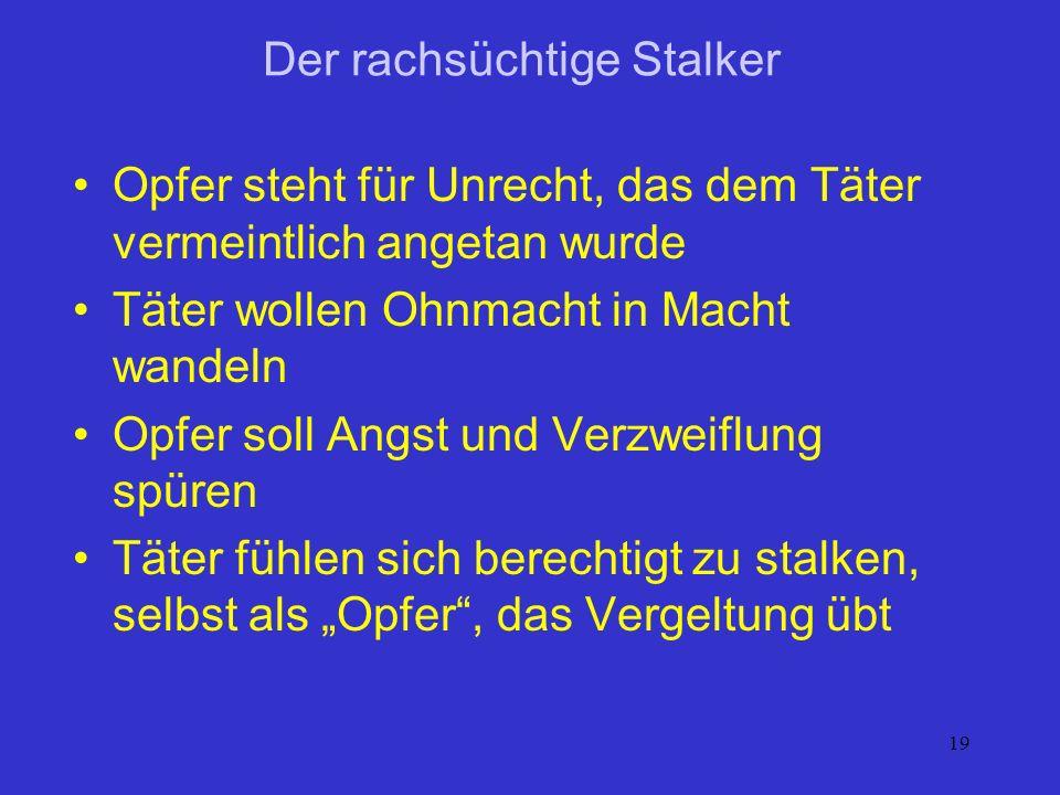 Der rachsüchtige Stalker
