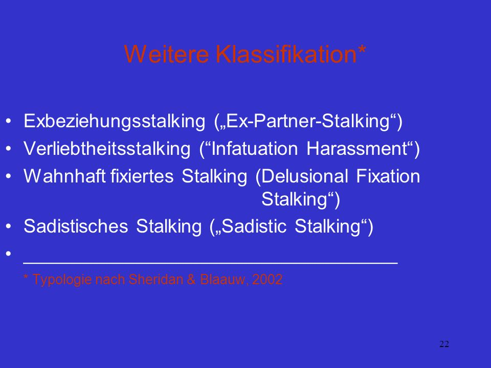 Weitere Klassifikation*