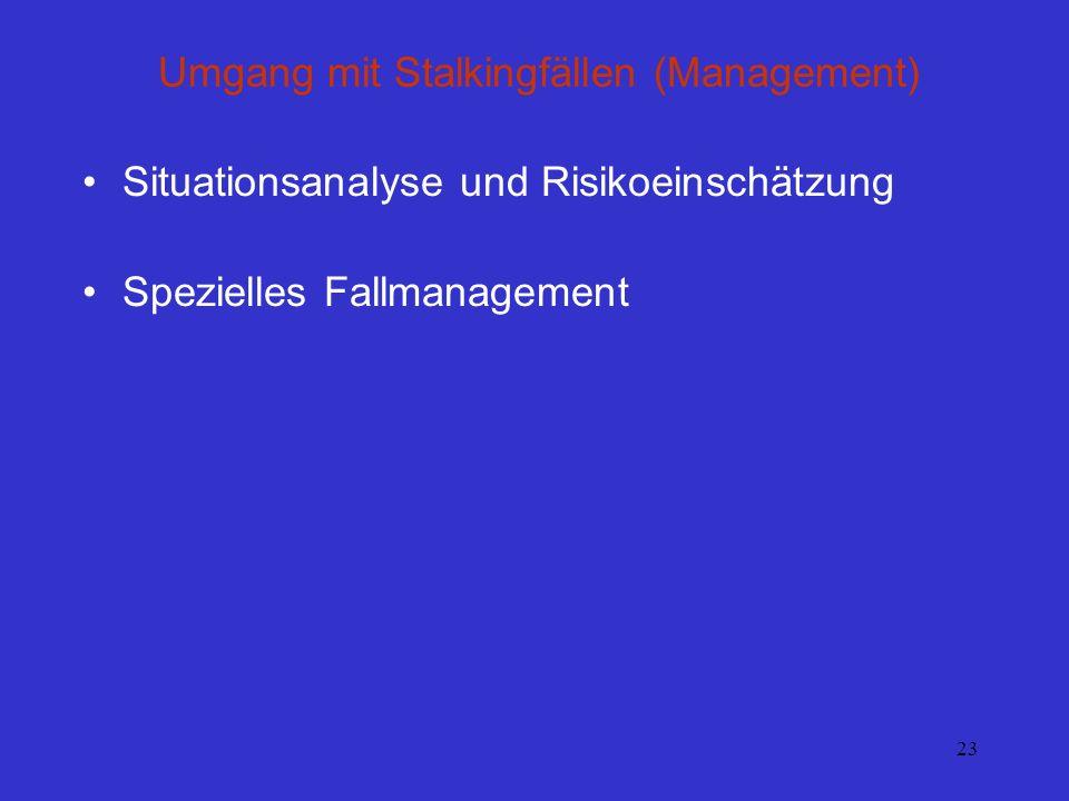 Umgang mit Stalkingfällen (Management)