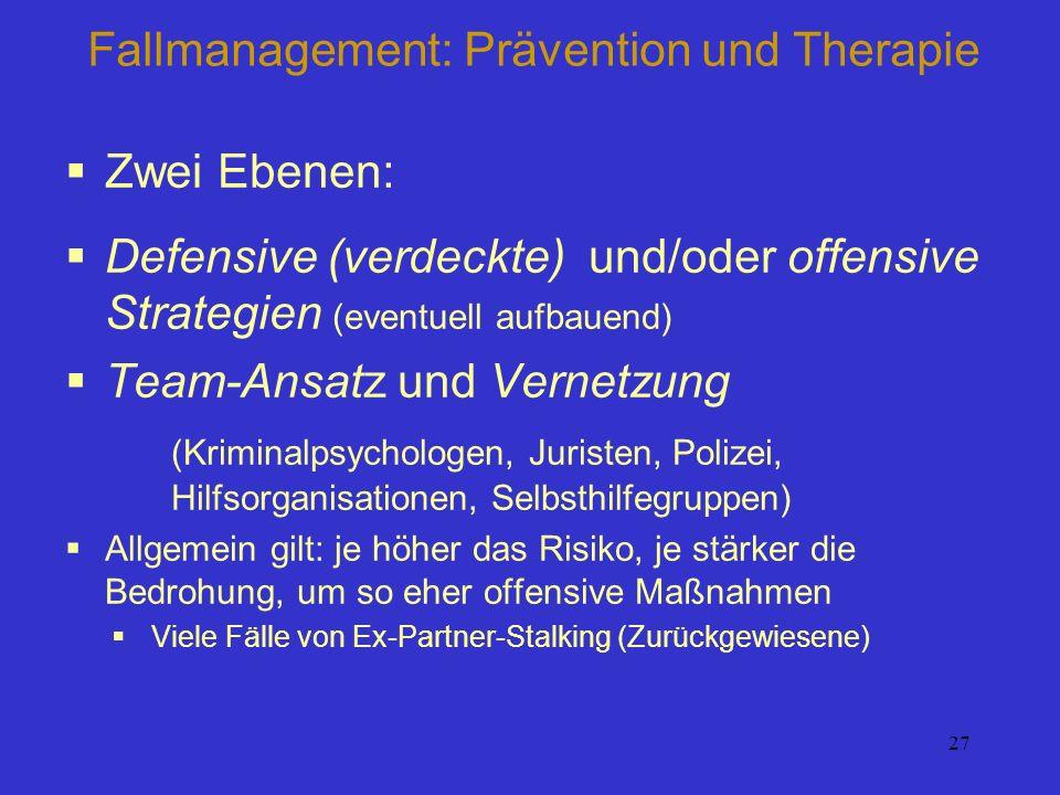 Fallmanagement: Prävention und Therapie
