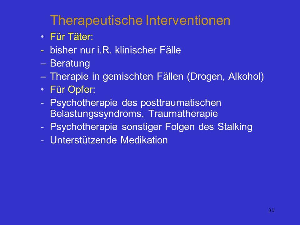 Therapeutische Interventionen