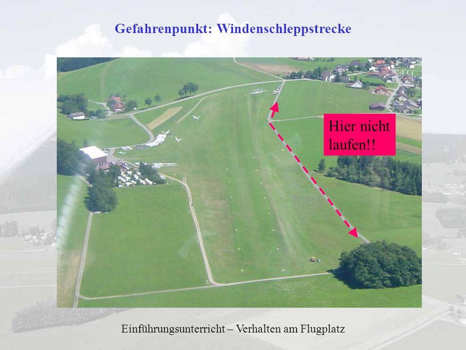 Gefahrenpunkt: Windenschleppstrecke