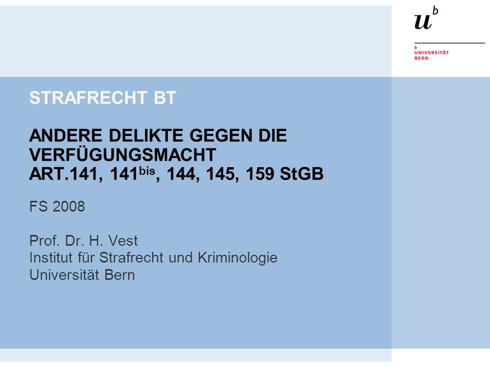 STRAFRECHT BT ANDERE DELIKTE GEGEN DIE VERFÜGUNGSMACHT ART