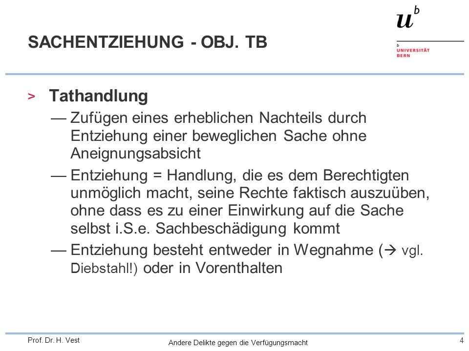 SACHENTZIEHUNG - OBJ. TB