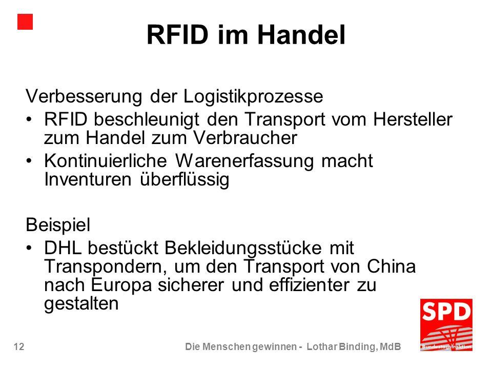 RFID im Handel Verbesserung der Logistikprozesse
