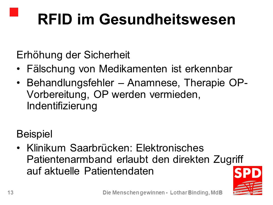 RFID im Gesundheitswesen
