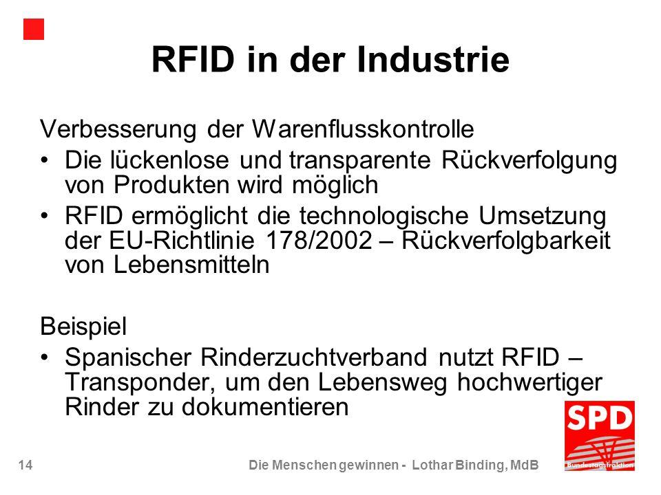 RFID in der Industrie Verbesserung der Warenflusskontrolle