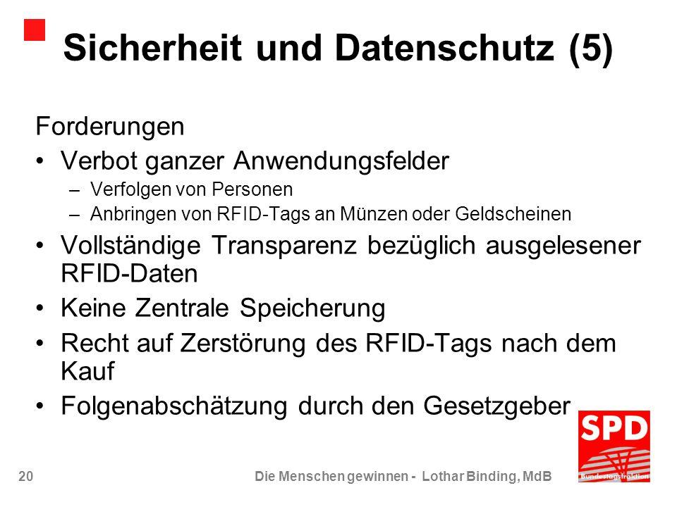 Sicherheit und Datenschutz (5)