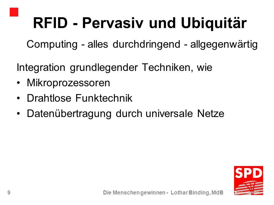 RFID - Pervasiv und Ubiquitär Computing - alles durchdringend - allgegenwärtig