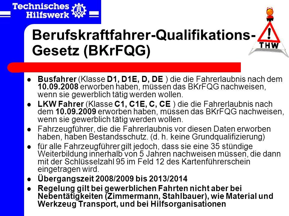 Berufskraftfahrer-Qualifikations-Gesetz (BKrFQG)