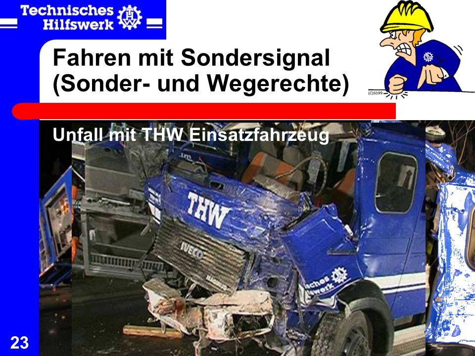 Fahren mit Sondersignal (Sonder- und Wegerechte)