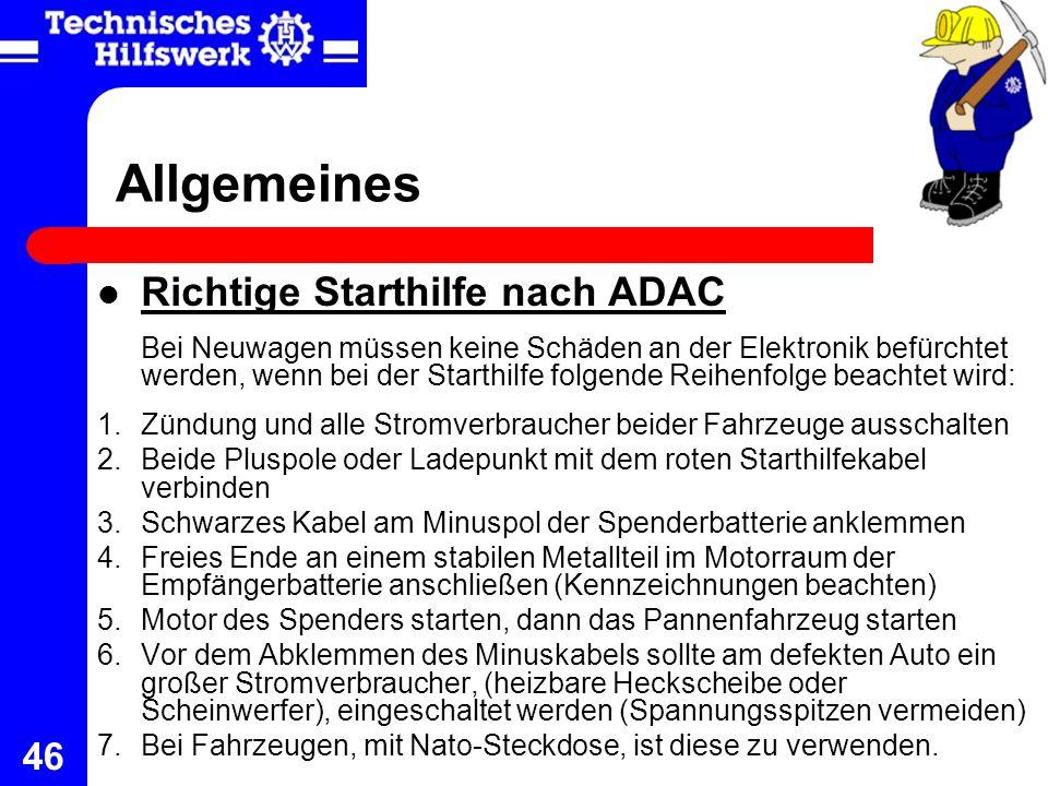 Allgemeines Richtige Starthilfe nach ADAC