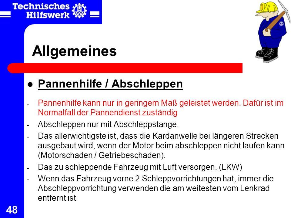 Allgemeines Pannenhilfe / Abschleppen