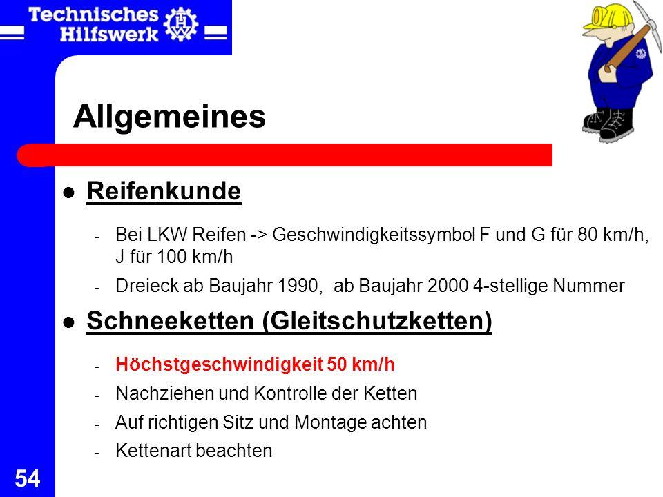 Allgemeines Reifenkunde Schneeketten (Gleitschutzketten)