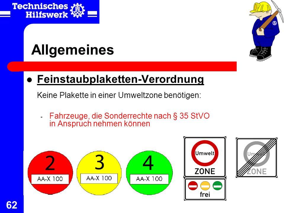 Allgemeines Feinstaubplaketten-Verordnung