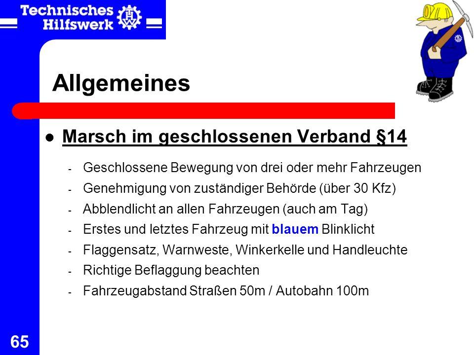 Allgemeines Marsch im geschlossenen Verband §14