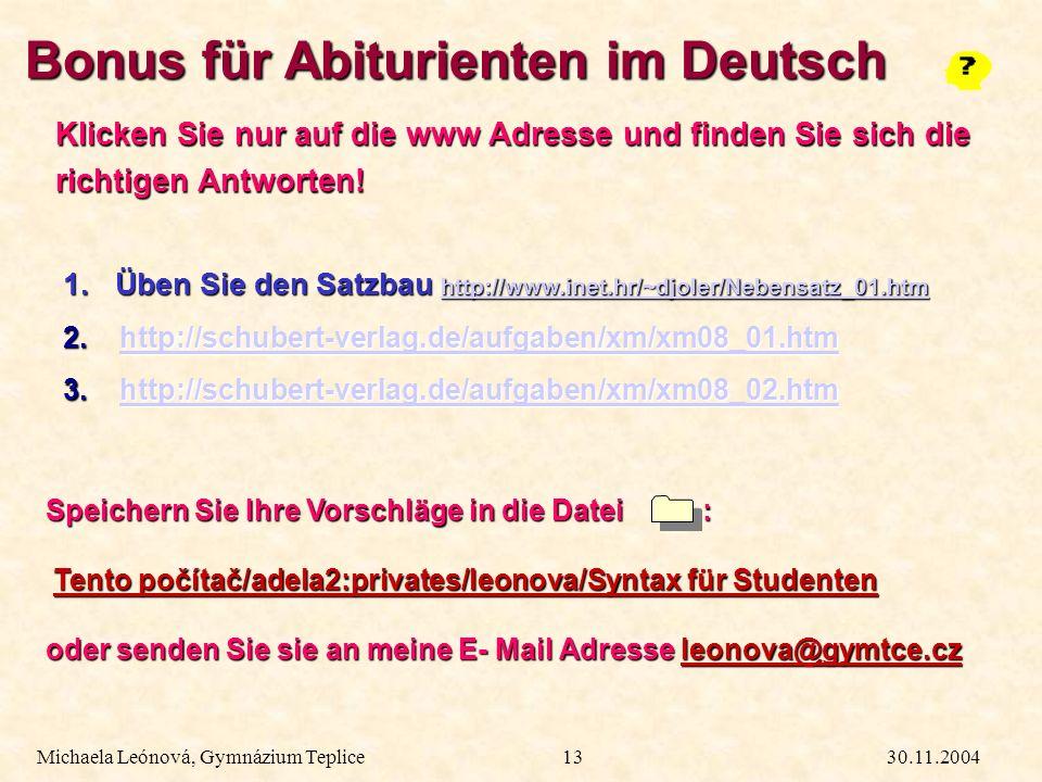 Bonus für Abiturienten im Deutsch