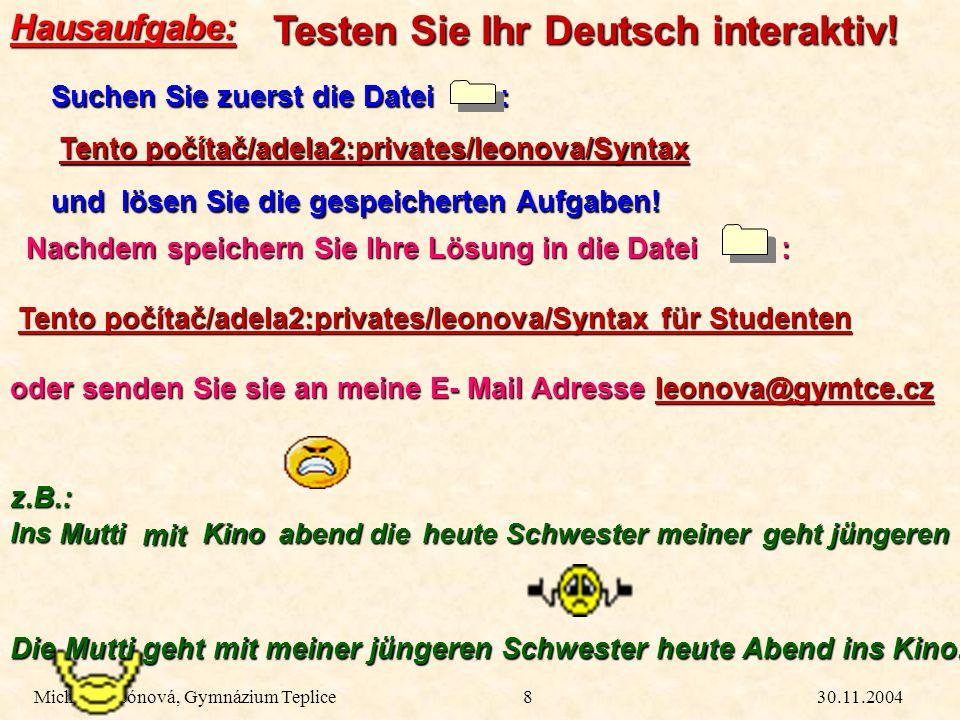 Testen Sie Ihr Deutsch interaktiv!