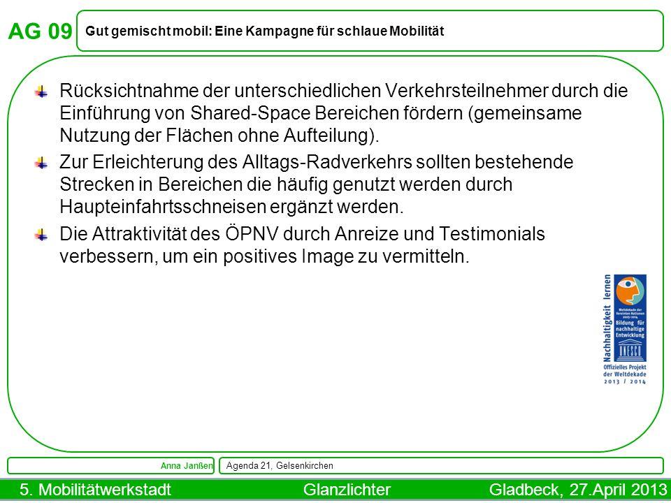 AG 09 Gut gemischt mobil: Eine Kampagne für schlaue Mobilität.