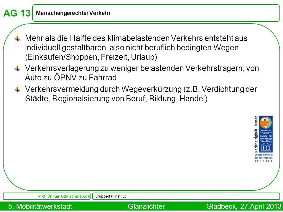 AG 13 Menschengerechter Verkehr.