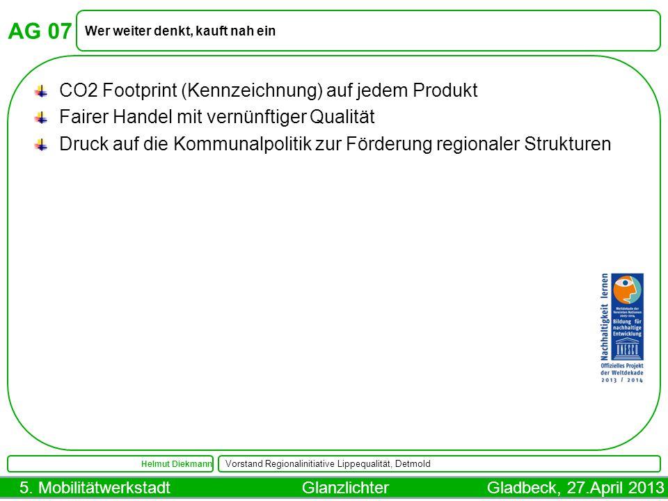 AG 07 CO2 Footprint (Kennzeichnung) auf jedem Produkt