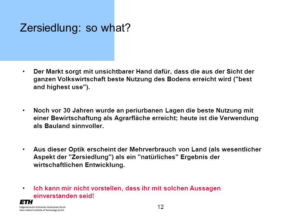 Zersiedlung: so what