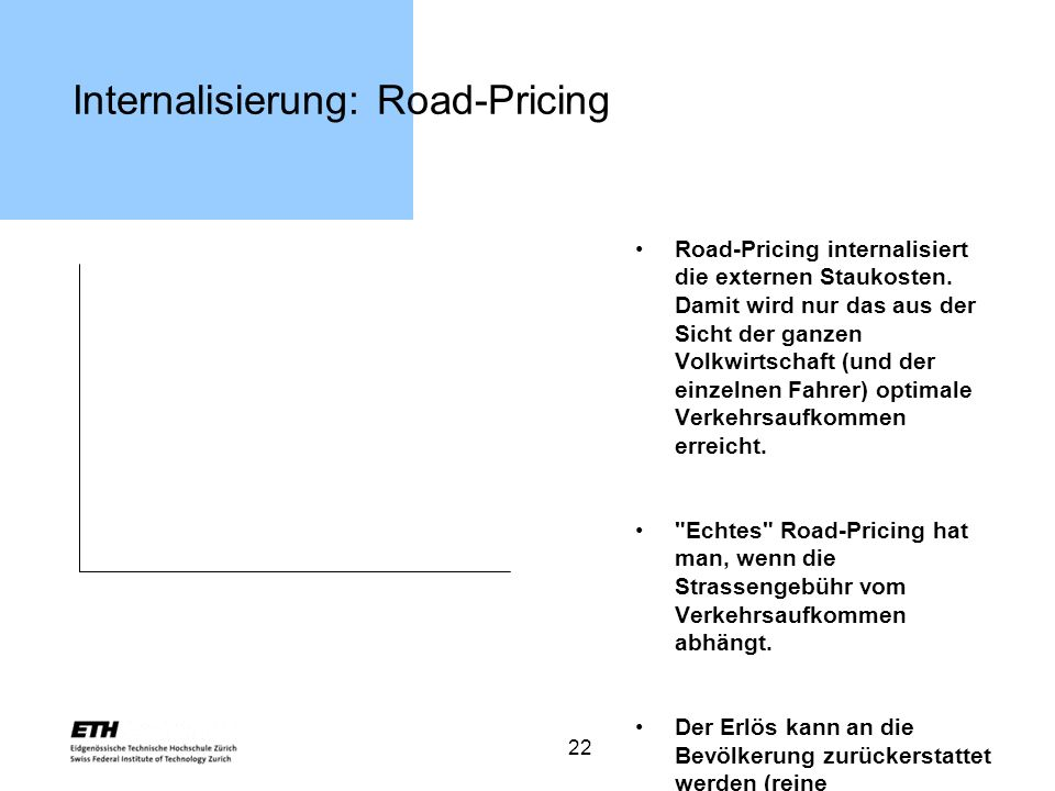 Internalisierung: Road-Pricing