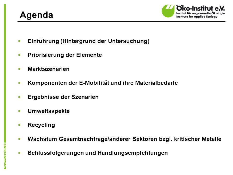 Agenda Einführung (Hintergrund der Untersuchung)