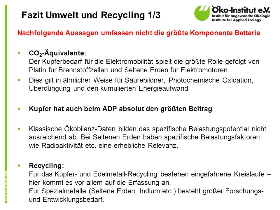 Fazit Umwelt und Recycling 1/3