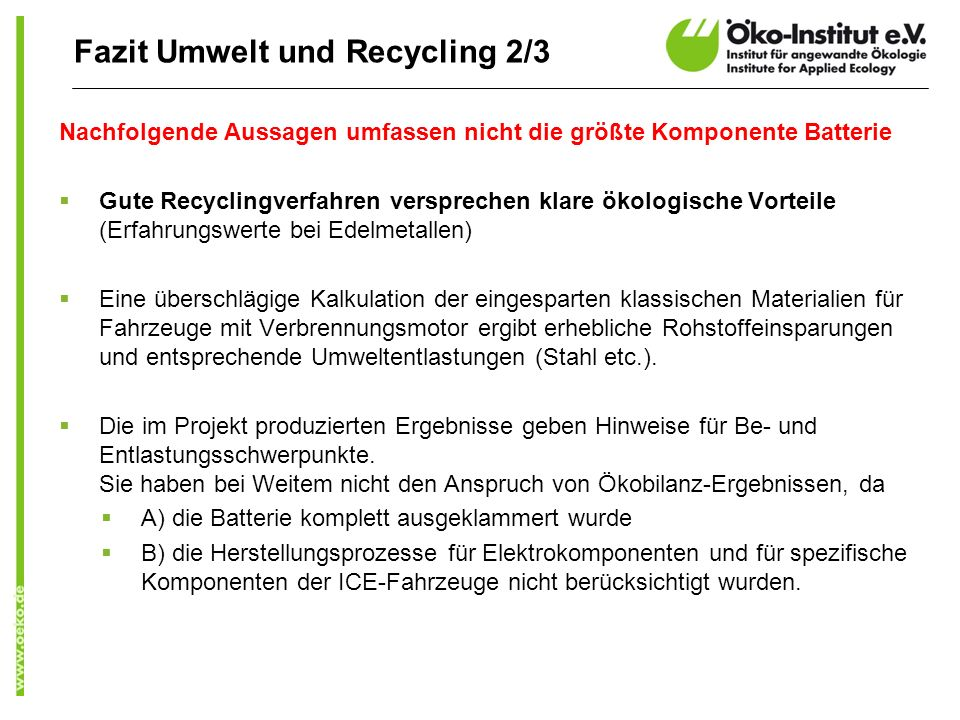 Fazit Umwelt und Recycling 2/3