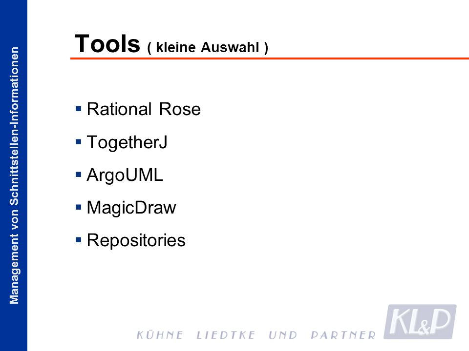 Tools ( kleine Auswahl )