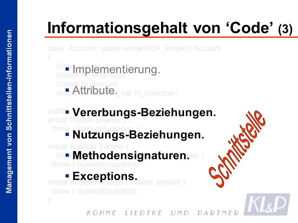 Informationsgehalt von 'Code' (3)
