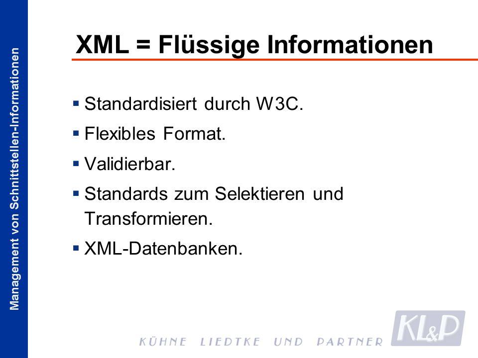 XML = Flüssige Informationen