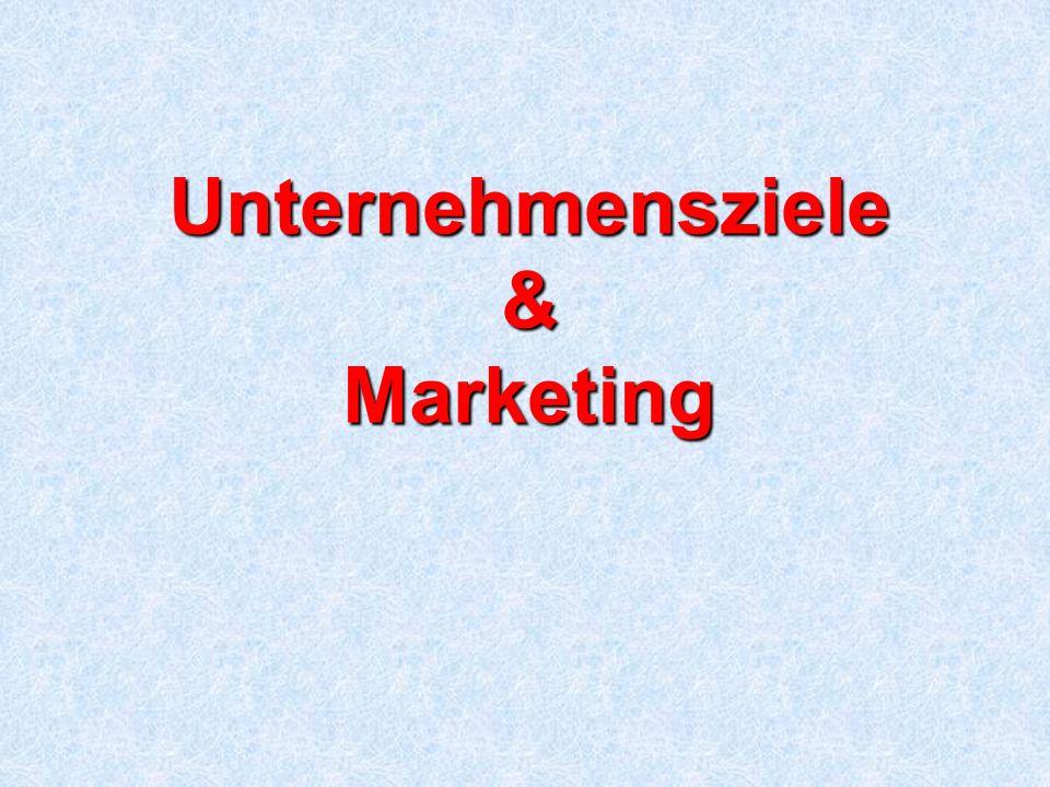 Unternehmensziele & Marketing