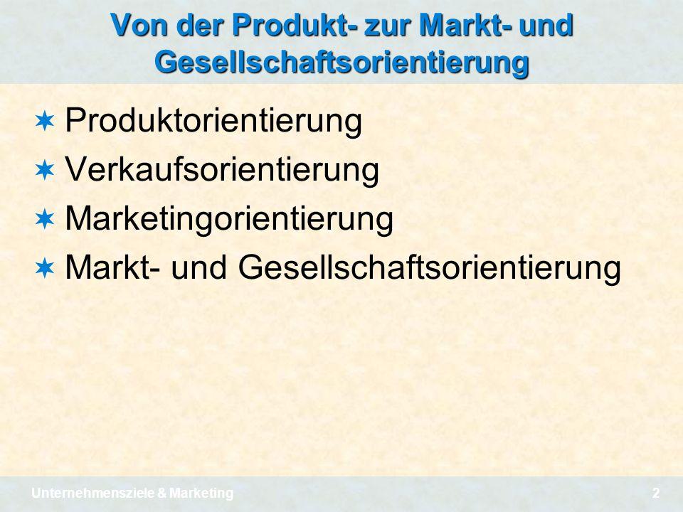 Von der Produkt- zur Markt- und Gesellschaftsorientierung