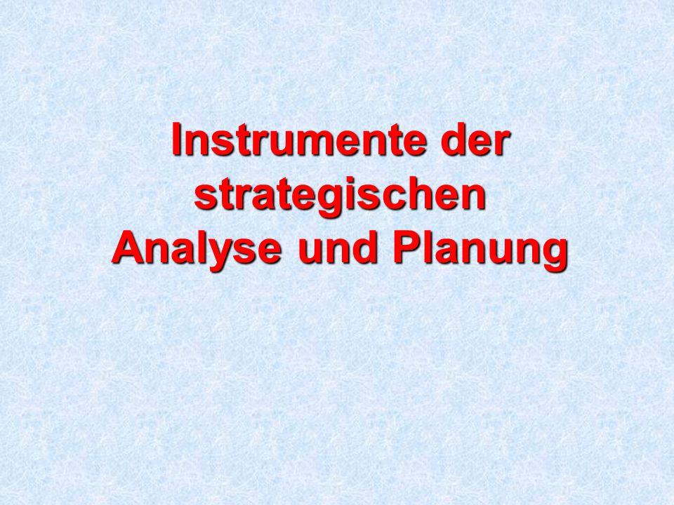 Instrumente der strategischen Analyse und Planung