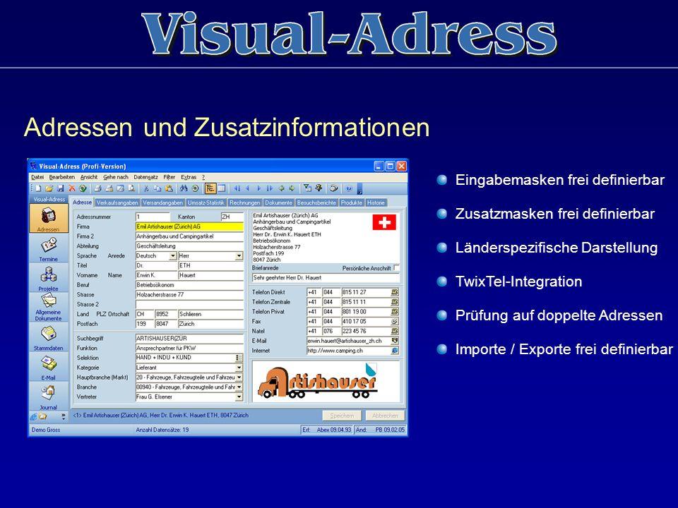 Adressen und Zusatzinformationen