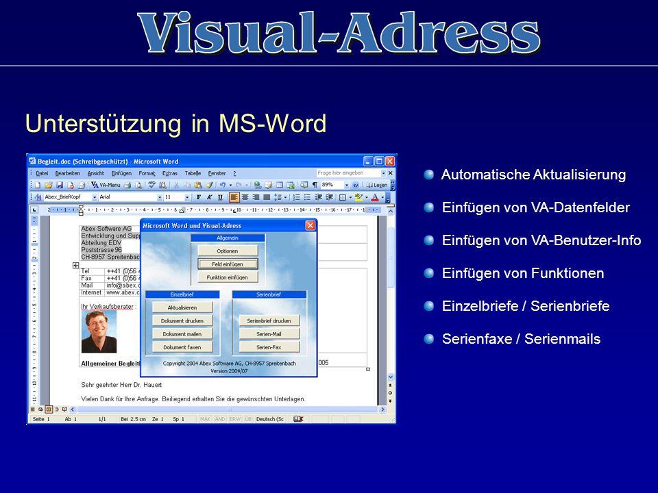 Unterstützung in MS-Word