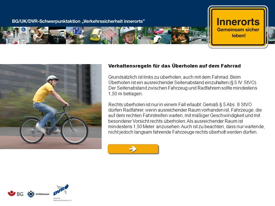  Verhaltensregeln für das Überholen auf dem Fahrrad