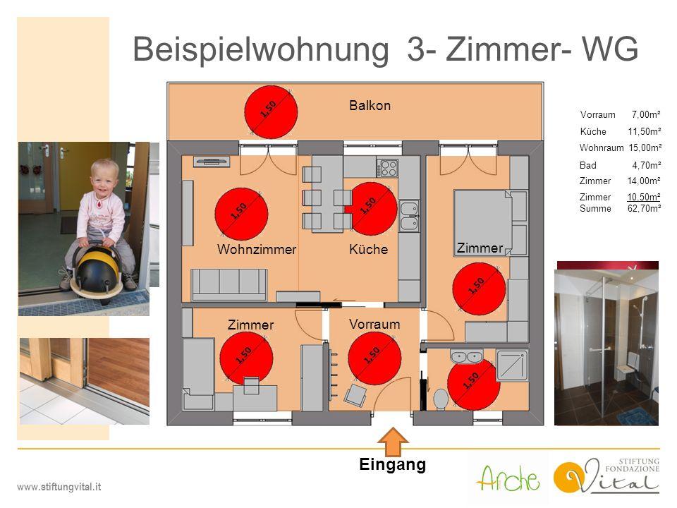 Beispielwohnung 3- Zimmer- WG