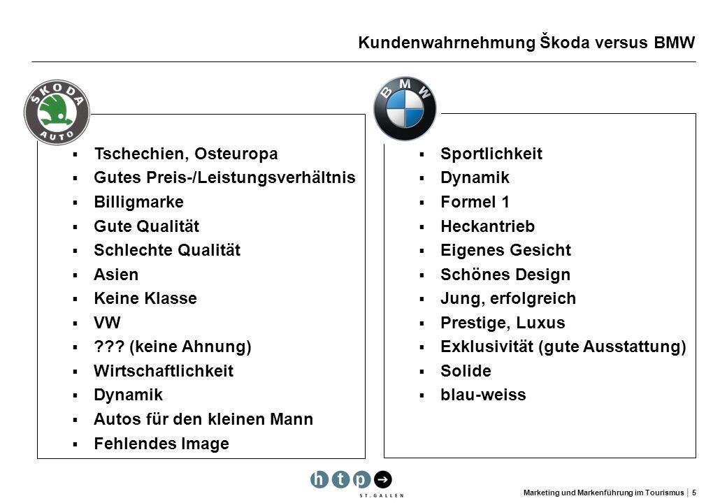 Kundenwahrnehmung Škoda versus BMW