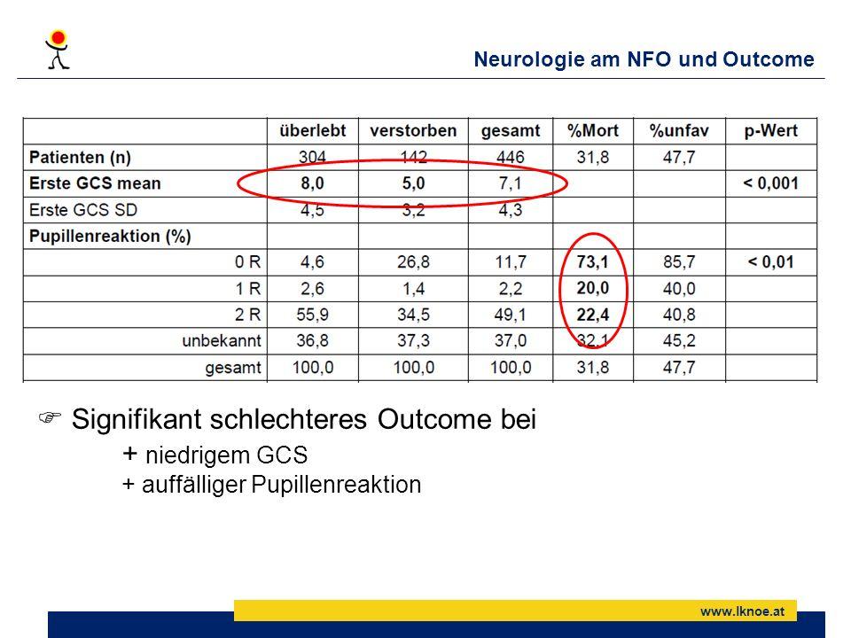 Neurologie am NFO und Outcome