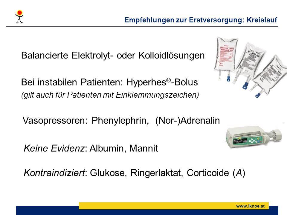 Balancierte Elektrolyt- oder Kolloidlösungen