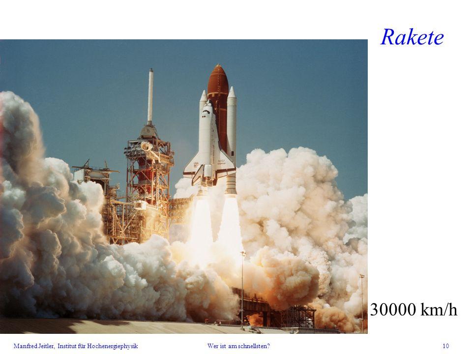 Rakete letzter Flug am 8. Juli 30000 km/h
